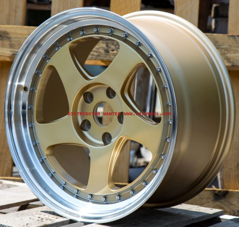 18X10.5 Rotiform TMB 5X114.3 +35 Gold Wheels Rims