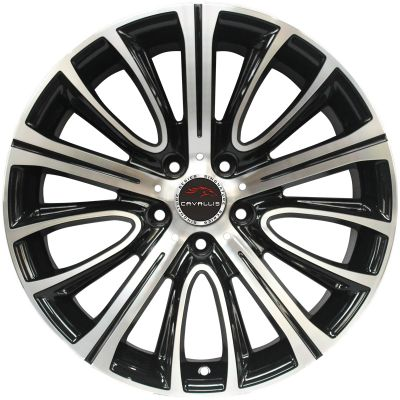 19 INCH,5 HOLES,BLACK PAINTED MACHINED,STAGGERED,18 INCH,20 INCH,REPLICA