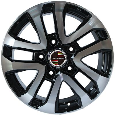 17 INCH,18 INCH,5 HOLES,REPLICA,BLACK PAINTED MACHINED