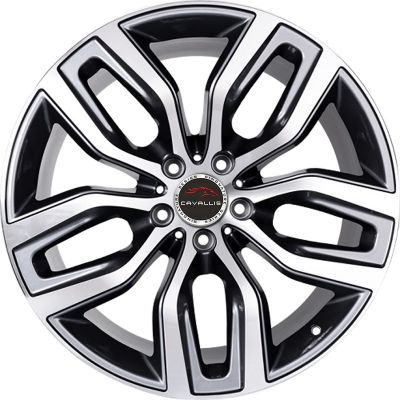 20 INCH,22 INCH,5 HOLES,BLACK PAINTED MACHINED,REPLICA,RUN FLAT COMPATIBLE,STAGGERED,TPMS COMPATIBLE
